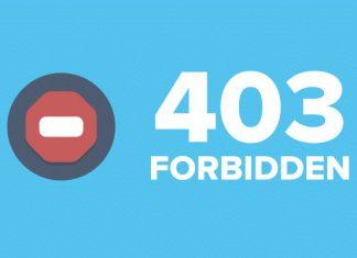 403 forbidden что за ошибка