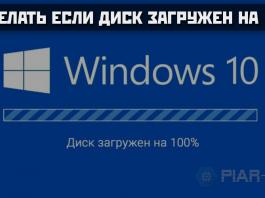 Что делать если диск загружен на 100% windows 10