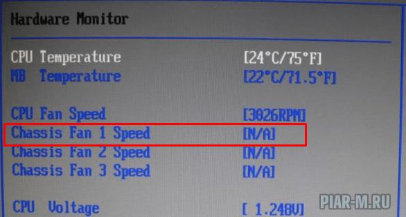 Chassis fan speed что это в биосе