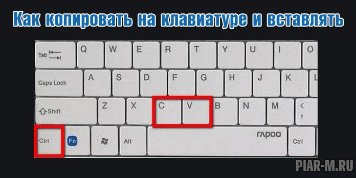 Как копировать на клавиатуре и вставлять