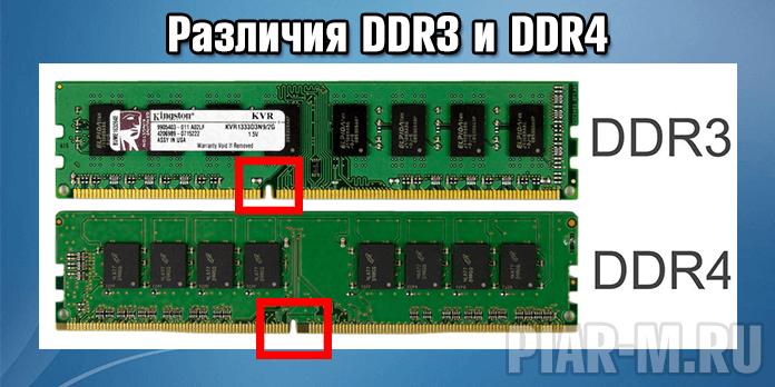 Разница между ddr3 и ddr4